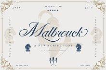 Malbrock Classic Script by  in Script Fonts