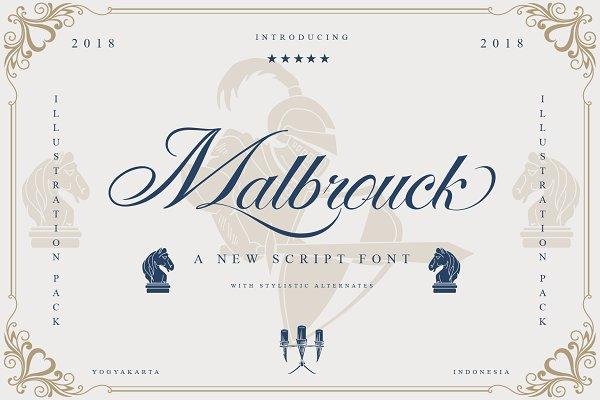 Script Fonts: Tanziladd - Malbrock Classic Script