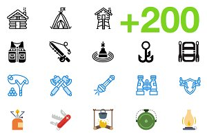 SMASHICONS - 200+ Outdoors Icons -