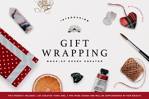 Gift Wrapping Mock-Up Scene Creator