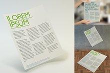 Multipurpose Letter Flyer Mockup