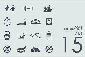 15 diet icons