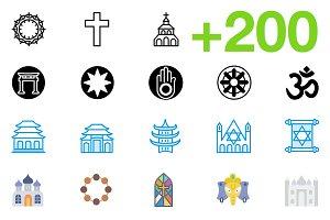 SMASHICONS - 200+ Religion Icons -