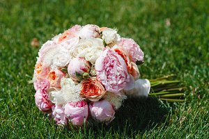 Beautiful bouquet of flowers from th