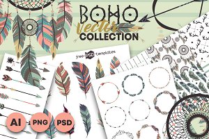 Boho Vector Collection
