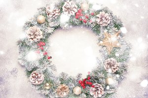 Christmas or New Year frame flat com