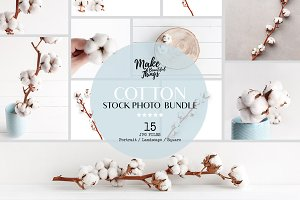 Cotton stock photography bundle
