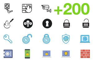 SMASHICONS - 200+ Security Icons -