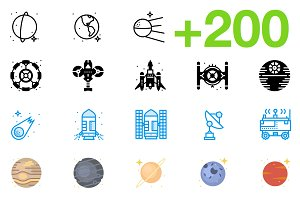 SMASHICONS - 200+ Space Icons -