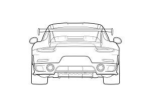 Porsche 991 GT2RS Rear vector