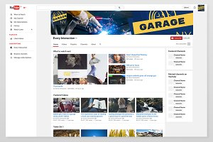 YouTube Channel Art for Auto Shop