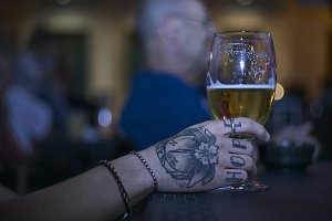 Beer and tattoo