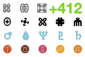 SMASHICONS - 412+ Symbol Icons -