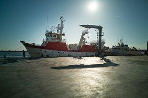 Fishing boat in a Spanish harbor.