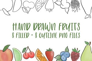 Hand Drawn Fruit Illustrations