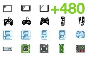 SMASHICONS - 480+ Tech Icons -