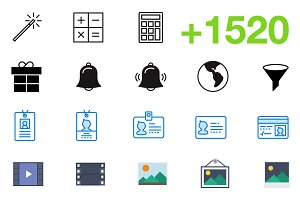 SMASHICONS - 1520+ Essential Icons -