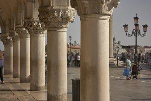 Columns and capitals of piazza san m