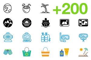 SMASHICONS - 200+ Travel Icons -