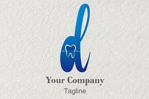 3D Logo Letter D Dentist