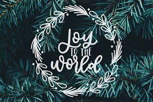 Joy To The World, SVG Photo Overlay