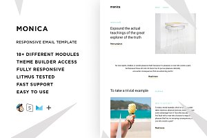 Monica – Email template + Builder