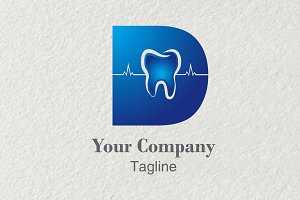 3D logo Lettering D Dental
