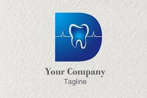 3D logo Lettering D Dental