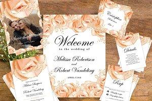 Rose gold Wedding Set