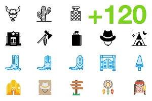 SMASHICONS - 120+ Wild West Icons -
