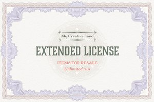 Extended License: Items for Resale