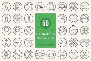 UX Workflow - Icons Outline Version