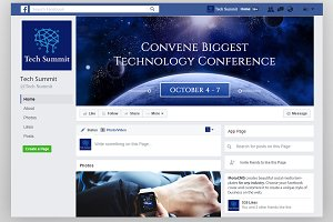 Conference Editable Timeline Cover