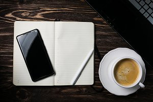 Blank notepad with phote, notebook