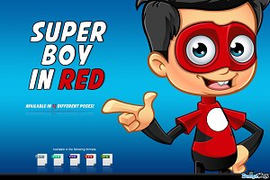 Super Boy In Red Character