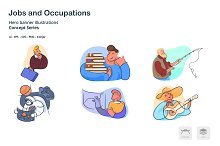 Occupations Doodle Line Icons