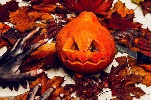 halloween grim, scary zombie hands w
