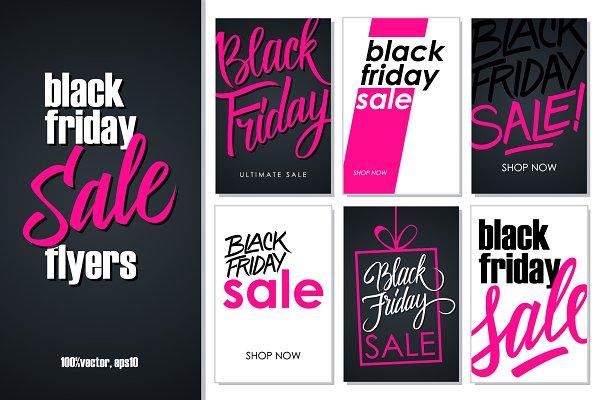 Black Friday Sale Flyers Creative Illustrator Templates Creative Market