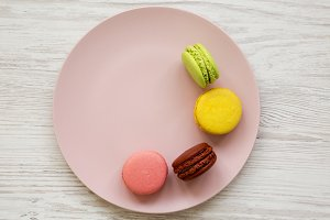 Sweet and colorful macaroons