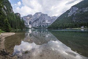 Dolomites lake reflection