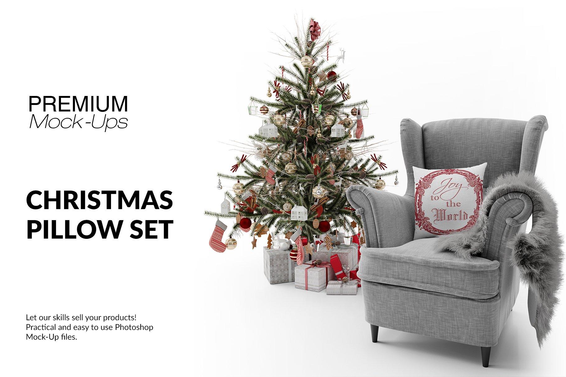 Christmas Throw Pillow Set ~ Product Mockups ~ Creative Market