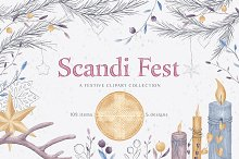 Scandi Fest - hand drawn collection by  in Objects