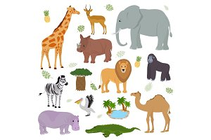 African animal vector wild