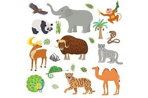 Asian animal vector animalistic wild