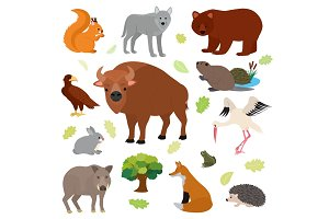 Animal vector animalistic character