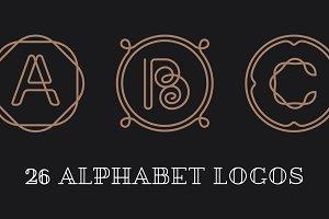 26 Alphabet Letters Logos
