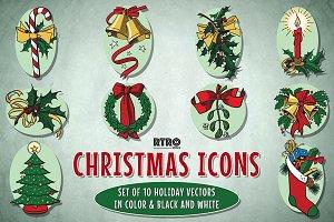 RTRO-Christmas Icons