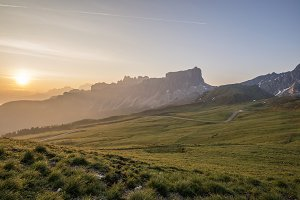 Dolomites from passo di Giau