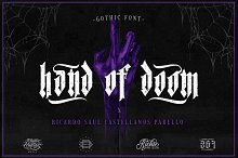 Hand of Doom (Gothic Font) by  in Blackletter Fonts