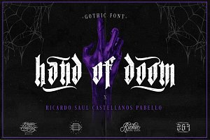 Hand of Doom (Gothic Font)